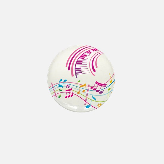 Music Art Mini Button
