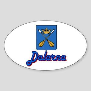 Dalarna New Oval Sticker
