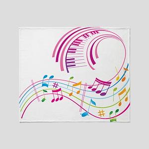 Music Art Throw Blanket