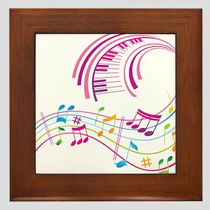 Music Art Framed Tile