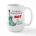 Liberty, Not Security Large Mug