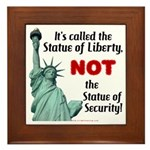 Liberty, Not Security Framed Tile
