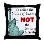 Liberty, Not Security Throw Pillow