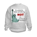 Liberty, Not Security Kids Sweatshirt