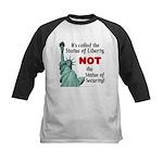 Liberty, Not Security Kids Baseball Jersey