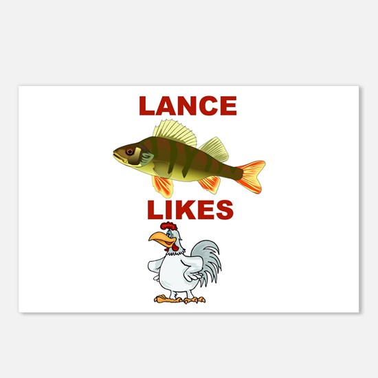 Lance Bass Likes Rooster Postcards (Package of 8)