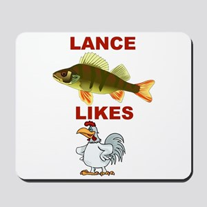 Lance Bass Likes Rooster Mousepad