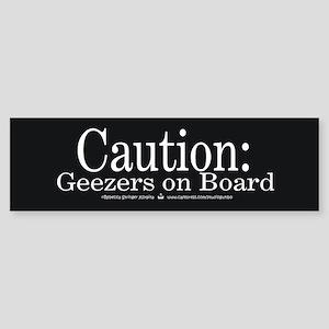 Caution: Geezers on Board Bumper Sticker