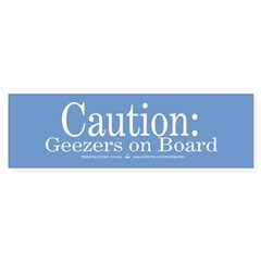 Geezers on Board No.2 Bumper Bumper Sticker