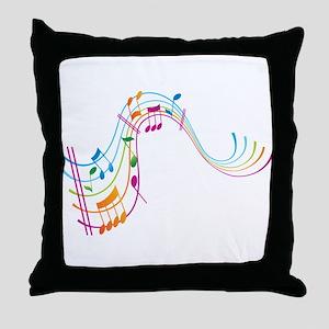 Music Art Throw Pillow