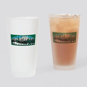 Washington green logo Rainier Drinking Glass