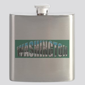 Washington green logo Rainier Flask