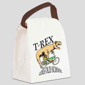 T Rex goes old school Canvas Lunch Bag