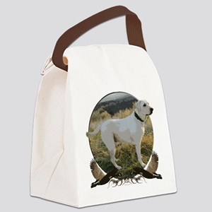 White lab Canvas Lunch Bag