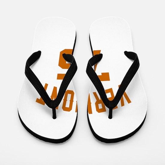 Vermont 75 Birthday Designs Flip Flops