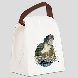 Largemouth Bass Canvas Lunch Bag
