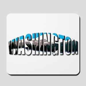 Washington logo clear Rainier Mousepad