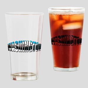 Washington logo clear Rainier Drinking Glass