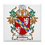 Crothers Coat of Arms Tile Coaster