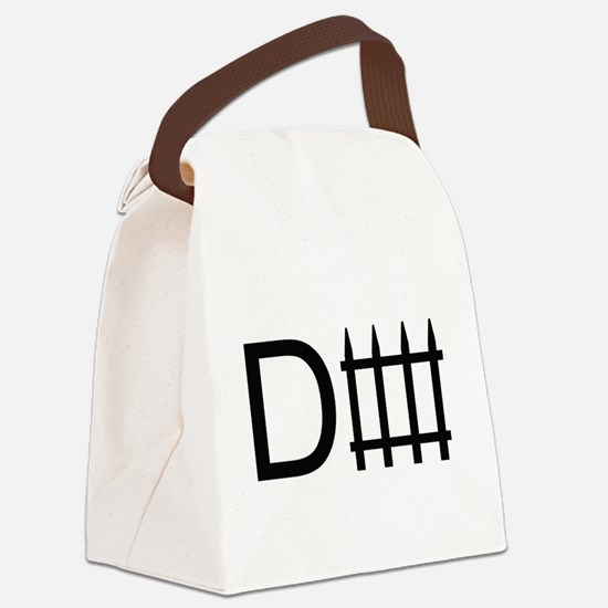d fence. Canvas Lunch Bag