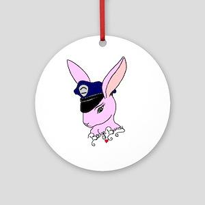 Badge Bunny Ornament (Round)