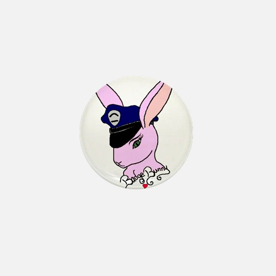 Badge Bunny Mini Button