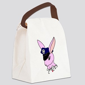 Badge Bunny Canvas Lunch Bag