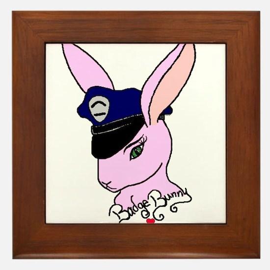Badge Bunny Framed Tile