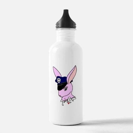 Badge Bunny Water Bottle