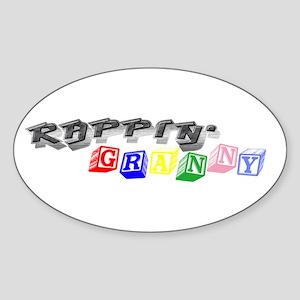 Rappin' Granny Oval Sticker
