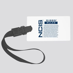 NCIS Gibbs' Rules Large Luggage Tag
