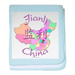 Jianli China Map baby blanket