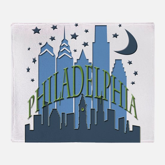 Philly Skyline cool Throw Blanket