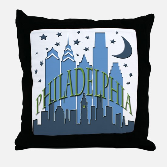 Philly Skyline cool Throw Pillow
