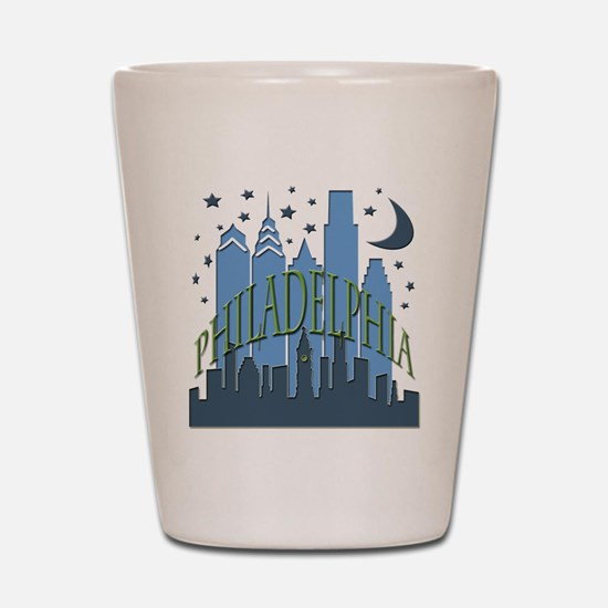 Philly Skyline cool Shot Glass