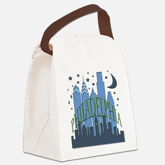 Philly Skyline cool Canvas Lunch Bag