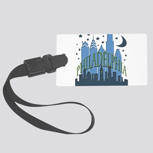 Philly Skyline cool Large Luggage Tag