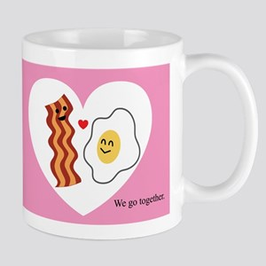 Pink Heart Valentine Bacon & Eggs in Love Mug