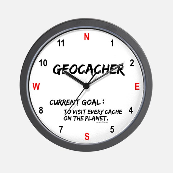 Geocacher Goals Wall Clock
