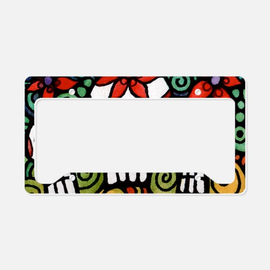 Day of the Dead Floral Sugar License Plate Holder