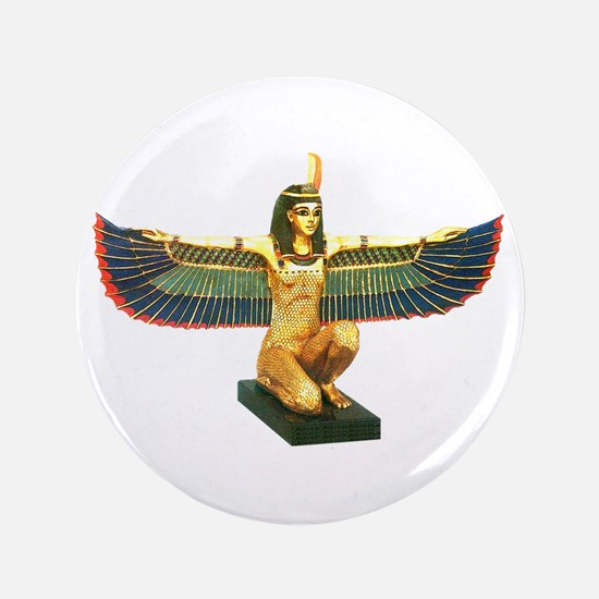 """Winged Maat 3.5"""" Button"""