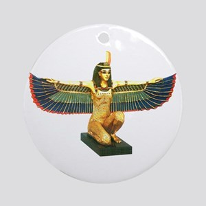 Winged Maat Ornament (Round)