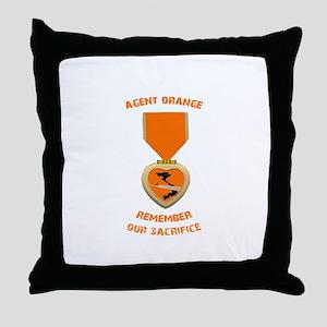 Agent Orange Throw Pillow