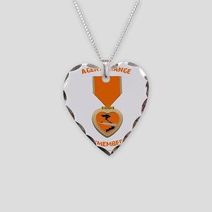Agent Orange Necklace Heart Charm