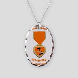 Agent Orange Necklace Oval Charm