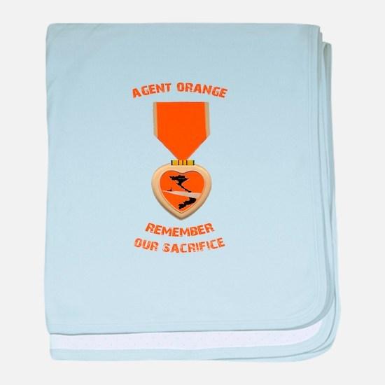 Agent Orange baby blanket