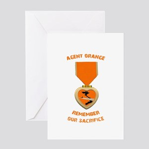 Agent Orange Greeting Card