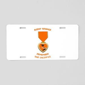 Agent Orange Aluminum License Plate