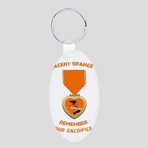 Agent Orange Aluminum Oval Keychain
