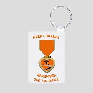 Agent Orange Aluminum Photo Keychain